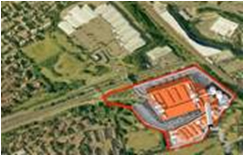 Montage of Proposed MBT development on Pinkham Way (coloured red)