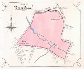 Map of the Arnos Grove Estate
