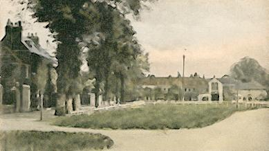 An early picture of The Green and the Cherry Tree