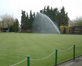 Watering the bowling green