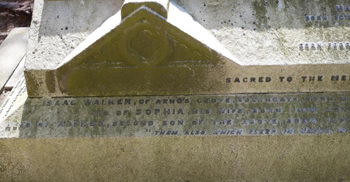 The Walker Family grave in Christ Church graveyard