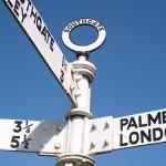 Renovated signpost