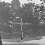 The old signpost in an early image